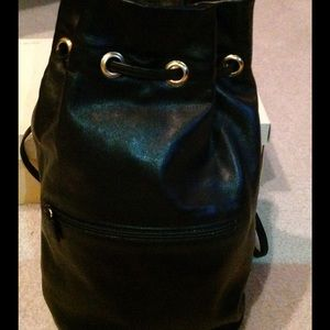 Neiman Marcus Handbags - Black leather backpack