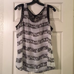 Maurices Tops - Maurices Chiffon Tank.