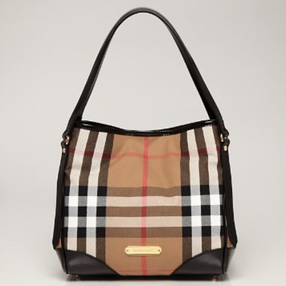 3b8b60b0539 Burberry Handbags - Burberry Bridle House Check Small Canterbury Tote