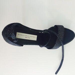 Stella MCCartney Strappy glitter high heels