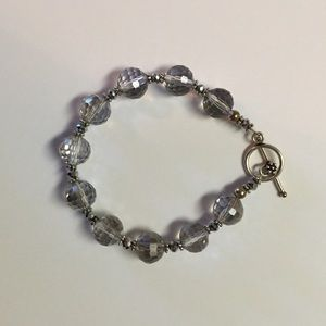 Jewelry - Sterling Silver Crystal Beaded Bracelet