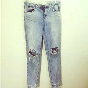 Distressed Zara jeans