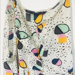 Zara Tops - Playful pattern Zara blouse