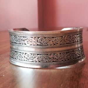Jewelry - 🎉2xHP🎉 Silver Warrior Cuff Bracelet