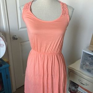 New! Peach mini dress