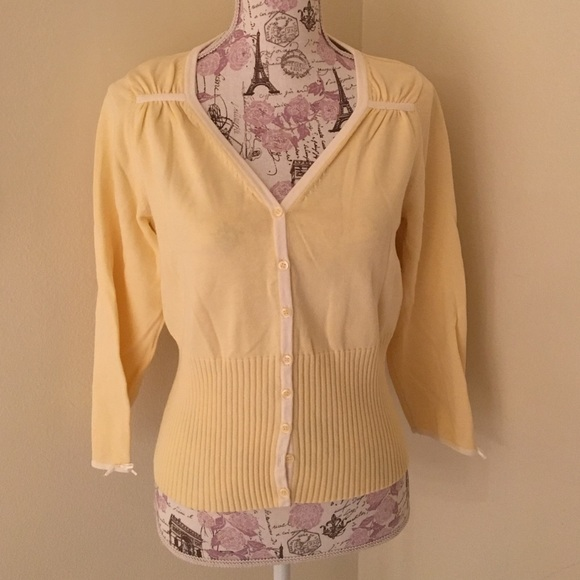 Anthropologie - Anthropologie pale yellow cardigan from Debbie's ...