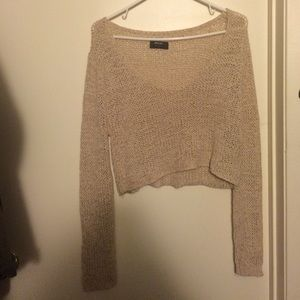 Knitted sweater crop top