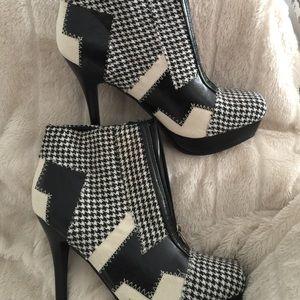 Shoes - Platform patchwork ankle boots