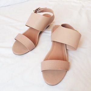 H&M Shoes - H&M Nude Kitten Wedge Sandals