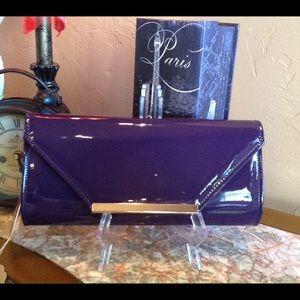 Boutique Handbags - Clutch Faux Patent Leather