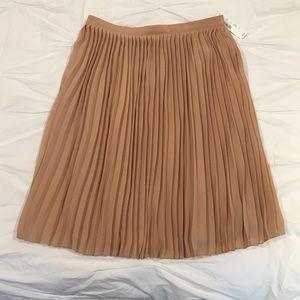 J Crew Sunburst Accordion Skirt