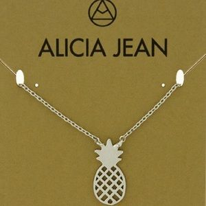 Alicia Jean Jewelry - Sterling Silver Pineapple Necklace