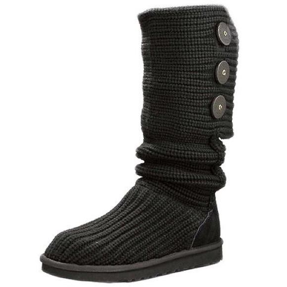 63 ugg shoes black knit ugg boots from jen s closet