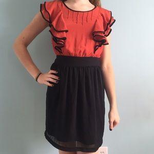 Red & Black Flamenco Dress