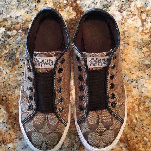 coach coach slip on tennis shoes from beth s closet