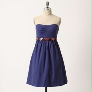 Floreat by Anthropologie Navy Fairy Cake Dress