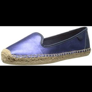 Coco Blue Metallic Espadrille shoes By Sperry