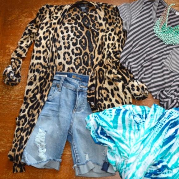 69% off Ellison Sweaters - /Ellison/ leopard print long ...
