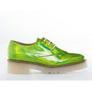 Green hologram iridescent Oxford alien rave mista
