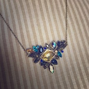 Jewelry - NWOT Blue & Gold Stone Statement Necklace
