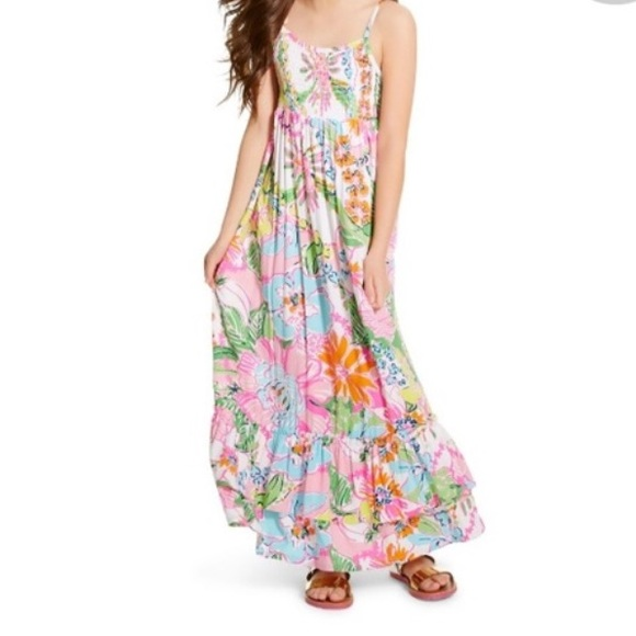 8bf77e4439769 NWT girls Lilly for target maxi dress size M (7 8)