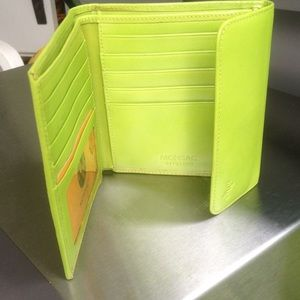 Monsac Accessories - Bright green leather wallet