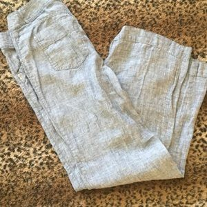 88% off INC International Concepts Pants - Blue/gray linen pants ...