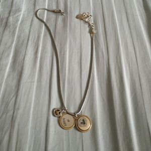 Brighton silver and gold overlap necklace