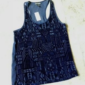 BNWT! Wet Seal geometric aztec tank top