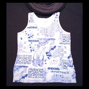 Powder Blue Vintage Print Tank