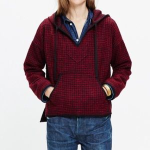 Madewell Sweaters - Madewell Brushed Houndstooth Hoodie