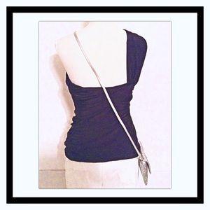 L.A.M.B. Tops - L.A.M.B. Black Draped Knit Bustier
