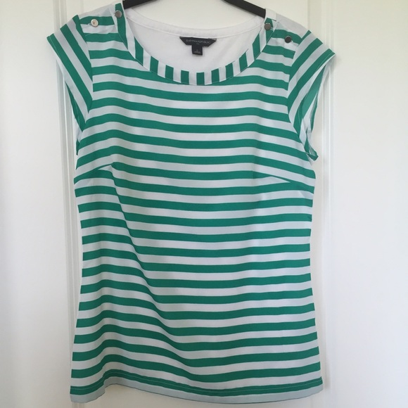 Banana Republic Tops - Green Stripe Top | Banana Republic