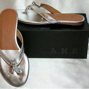 L.A.M.B. Shoes - **FINAL!** NWOB L.A.M.B. Silver Thong Sandal