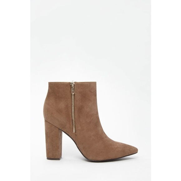 26 forever 21 shoes forever21 suede brown boots