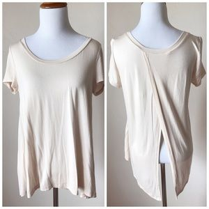 Honey Punch Tops - Softest Modal Knit Split Back Top