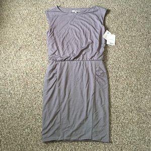 Athleta micro stripe dress
