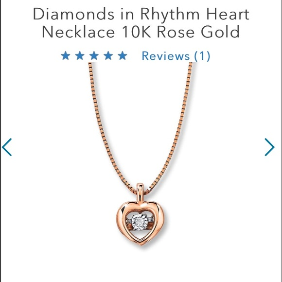 30 off Kay Jewelers Jewelry Kays Rose Gold Floating Heart Necklace