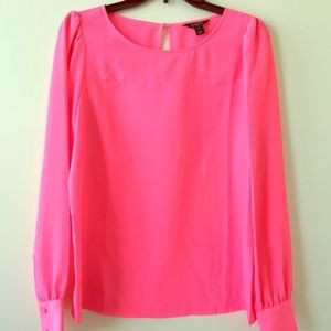 J. Crew pink silk blouse