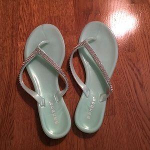 Aqua blue sandals