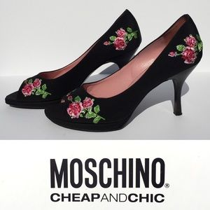 SALEHP! Moschino Peep Toe Heels