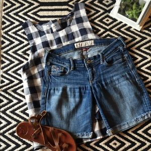 Hollister Pants - Hollister denim bermuda shorts