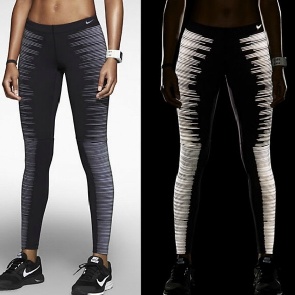002c79564296ea Nike Pants   Pro Drifit Flash Running Tights Reflective   Poshmark