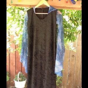 Vintage 90's Velvet Dress Size 7 8 Goth Gothic