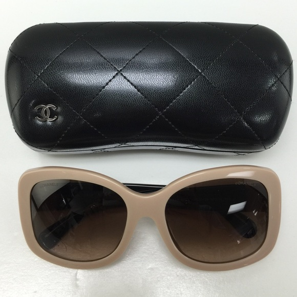 ccb0882b4883 CHANEL Accessories | 5322 1520s5 Tanblack Plastic Sunglasses | Poshmark