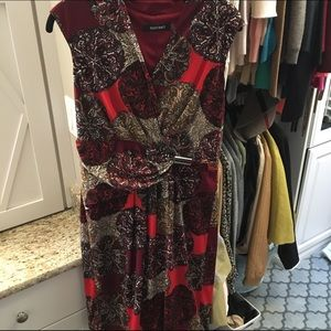 Ellen Tracy 8 Maroon Red Stretchy Lined Dress