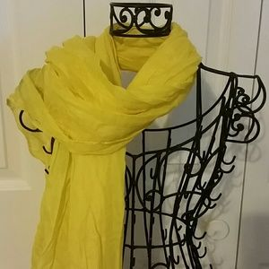 Accessories - Yellow Football Season Scarf/Shawl Wrap
