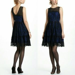 Anthropologie Sapphire Lace Dress Size 0