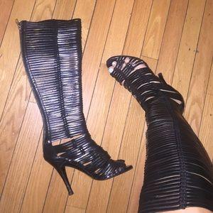 Singrid Morrison cut out high leather boots
