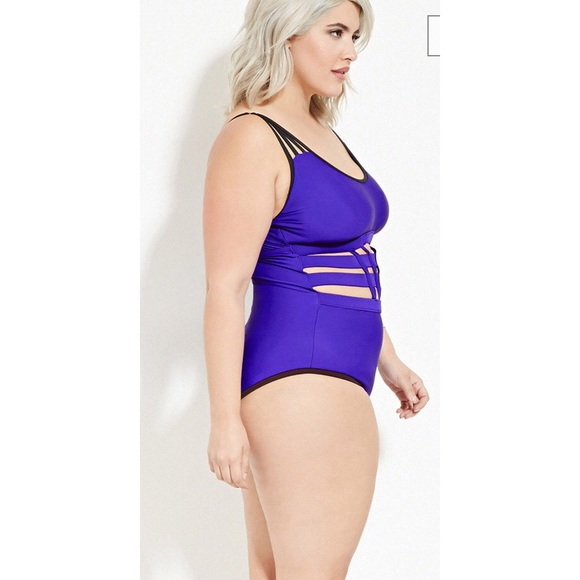 a9b5e12fe1026 Plus Size Caged One-Piece Swimsuit